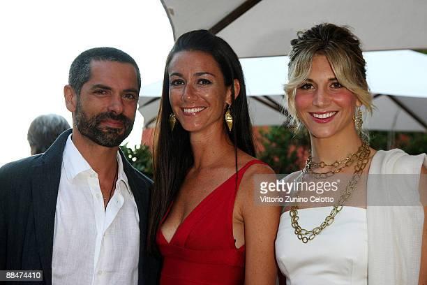 Simone Haggiag Marie Louise Scio and Nicoletta Romanoff attend Il Pellicano Summer Party with Jurgen Teller held at the Hotel Il Pellicano on June 13...