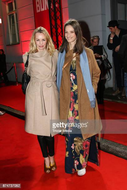 Simone Hanselmann and guest arrive at the New Faces Award Style 2017 on November 15, 2017 in Berlin, Germany.