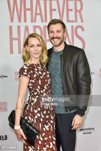 Simone Hanselmann and Jochen Schropp during the premiere of 'Whatever happens' at Astor Film Lounge on November 21, 2017 in Berlin, Germany.
