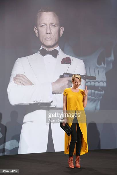 Simone Hanselmann arrives for the German premiere of the new James Bond movie 'Spectre' at CineStar on October 28, 2015 in Berlin, Germany.