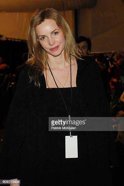 Simone Hanselmann attends CHARLES NOLAN Fall 2007 Collection at The Promenade on February 9 2007 in New York City