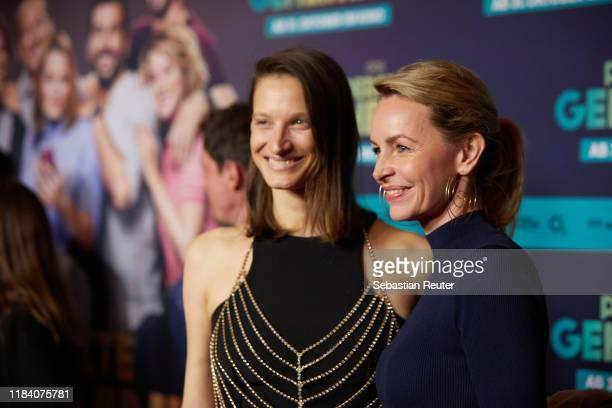 "Simone Hanselmann attends the premiere of ""Das perfekte Geheimnis"" on October 28, 2019 in Berlin, Germany."