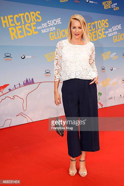 Simone Hanselmann attends the premiere of the film 'Hector and the Search for Happiness' at Zoo Palast on August 05, 2014 in Berlin, Germany.