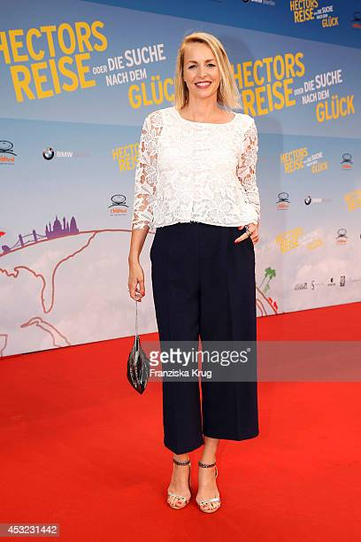 Simone Hanselmann attends the premiere of the film 'Hector and the Search for Happiness' at Zoo Palast on August 05 2014 in Berlin Germany
