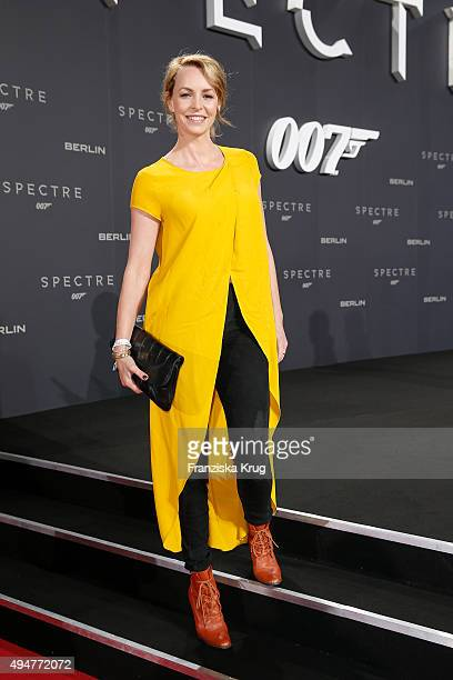 Simone Hanselmann attends the Spectre' German Premiere on October 28 2015 in Berlin Germany