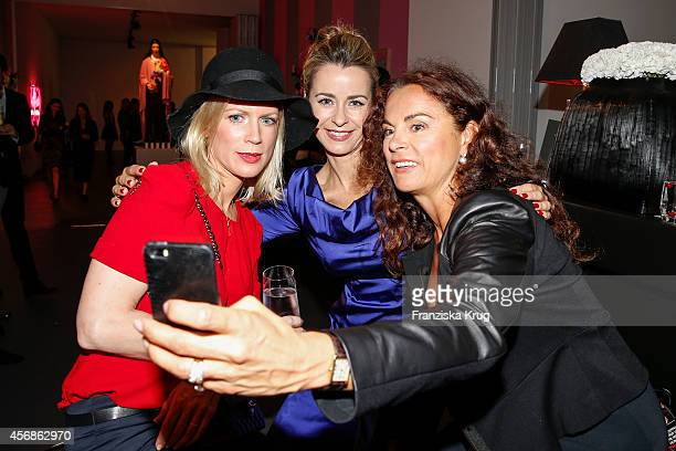Simone Hanselmann, Bettina Cramer and Anna von Griesheim attend the Tiffany & Gala Host 'Streetstyle Meets Red Carpet' Event on October 08, 2014 in...