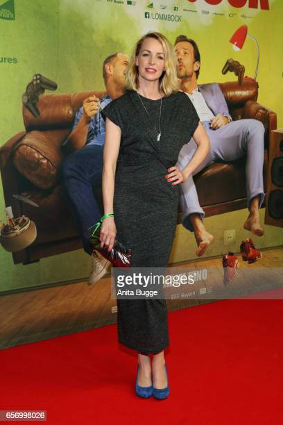 Simone Hanselmann during the premiere of the film 'Lommbock' at CineStar on March 23, 2017 in Berlin, Germany.