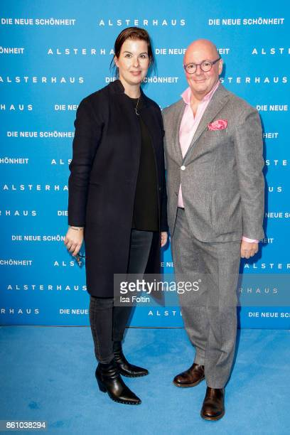 Simone Heift and Andre Maeder during the Alsterhaus Beauty Opening 'Die Neue Schönheit' on October 13 2017 in Hamburg Germany