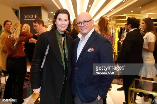 Simone Heift and Andre Maeder during the celebration of 'Der Berliner Salon' by KaDeWe Vogue at KaDeWe on January 18 2018 in Berlin Germany