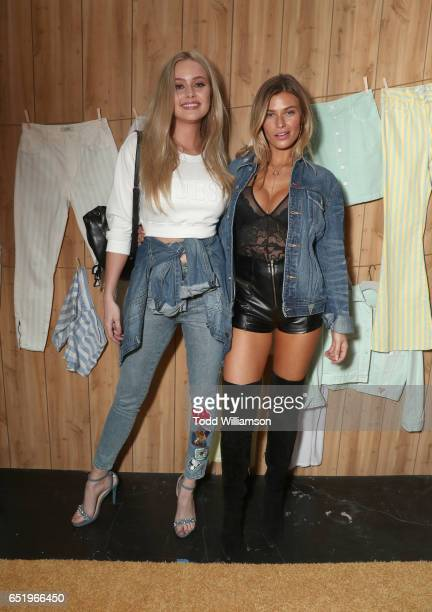 Simone Holtznagel and Samantha Hoopes attend AWGE presents A$AP Rocky x GUESS Club on March 10 2017 in West Hollywood California