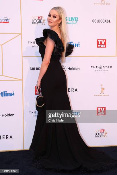 Simone Holtznagel arrives at the 60th Annual Logie Awards at The Star Gold Coast on July 1 2018 in Gold Coast Australia