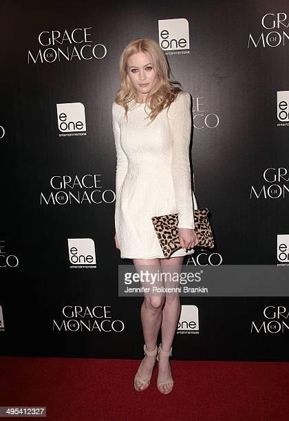 Simone Holtznagel arrives at the Australian premiere of 'Grace of Monaco' at Dendy Opera Quays on June 3 2014 in Sydney Australia