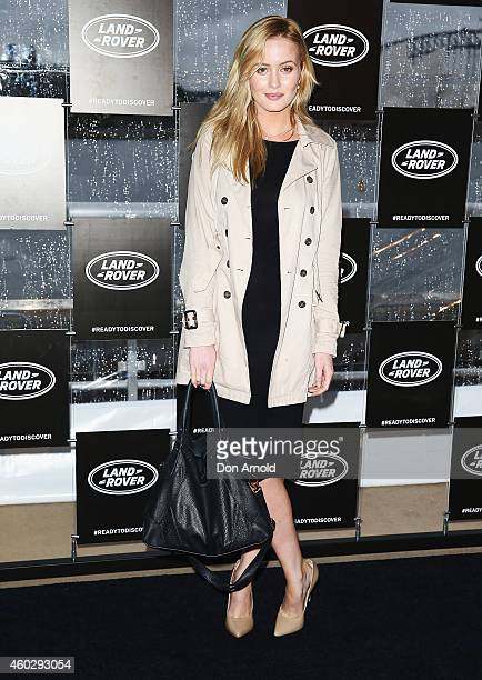 Simone Holtznagel poses at a launch for the Land Rover Discovery Sport at the Royal Botanical Gardens on December 11 2014 in Sydney Australia