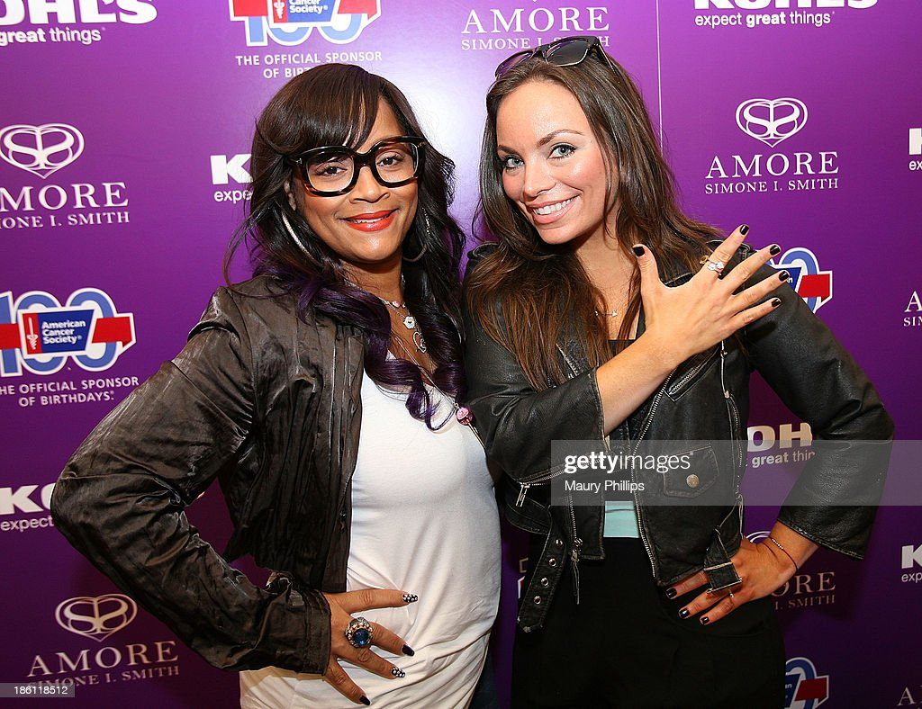 Simone I. Smith (L) and guest attend Amore by Simone I. Smith Collection Debut at Kohl's on October 26, 2013 in Los Angeles, California.