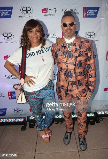 Simone I Smith and Legendary Damon attend A Toast To Summer Hosted By Simone I Smith at Aloft LICNY Hotel on July 19 2017 in New York City