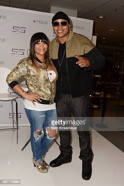 Simone I Smith and rapper/actor LL Cool J attend Macy's Downtown Los Angeles Hosts SIS By Simone I Smith Trunk Show at Macy's Downtown Los Angeles on...