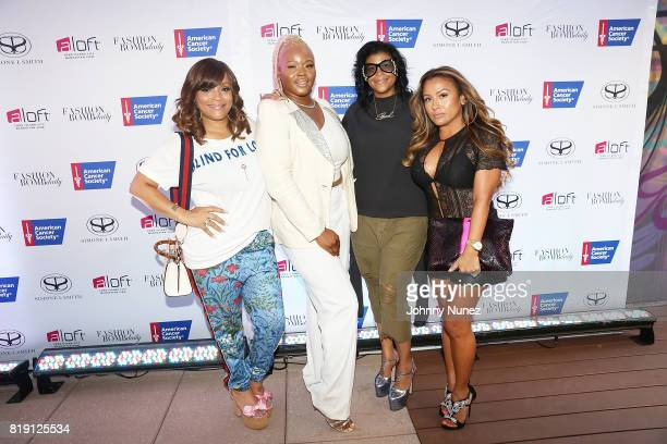 Simone I Smith Claire Sulmers Claudine Joseph and Lorena Cartagena and attend A Toast To Summer Hosted By Simone I Smith at Aloft LICNY Hotel on July...