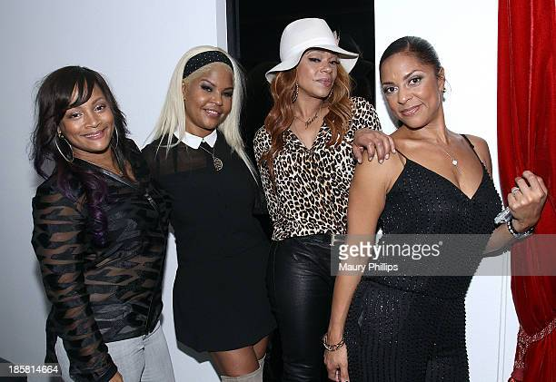 Simone I Smith Misa Hylton Faith Evans and Tiffany Cambridge attend 'Forever Shaunie' for SIS by Simone I Smith on October 24 2013 in Los Angeles...