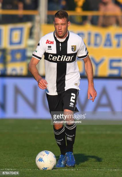 Simone Iacoponi of Parma Calcio in action during the Serie B match between Parma Calcio and Ascoli Picchio at Stadio Ennio Tardini on November 18...