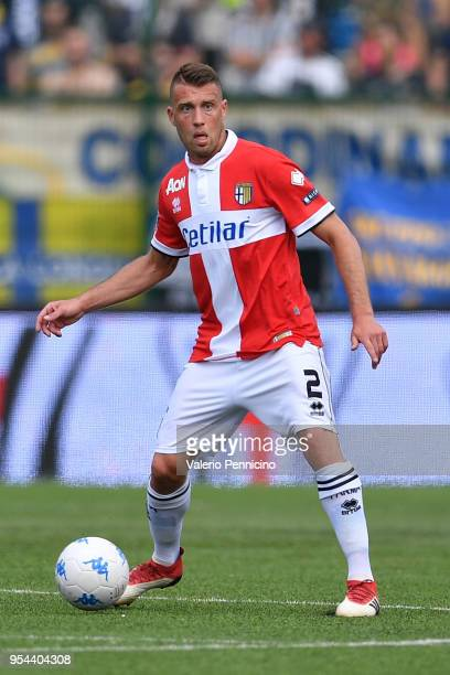 Simone Iacoponi of Parma Calcio in action during the serie B match between Pro Vercelli FC and Parma Calcio at Stadio Silvio Piola on April 28 2018...