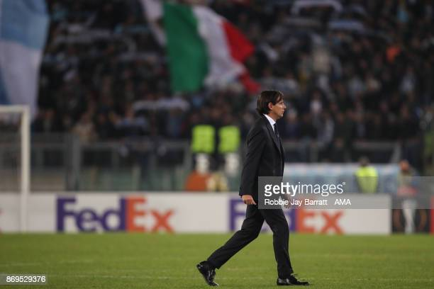 Simone Inzaghi head coach / manager of Lazio during the UEFA Europa League group K match between Lazio Roma and OGC Nice at Stadio Olimpico on...