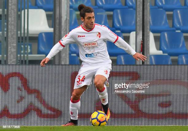 Simone Iocolano of Bari in action during the TIM Cup match between US Sassuolo and Bari on November 29 2017 in Reggio nell'Emilia Italy