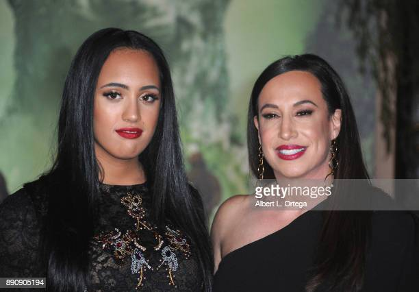 Simone Johnson and Dany Garcia arrive for the Premiere Of Columbia Pictures' 'Jumanji Welcome To The Jungle' held at The TLC Chinese Theater on...