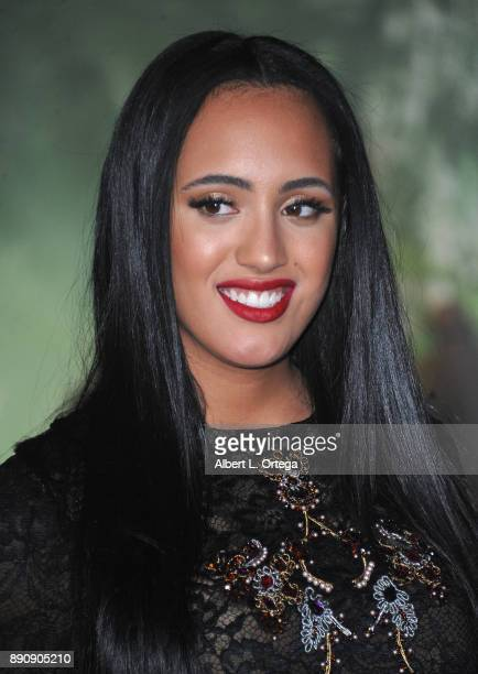 Simone Johnson arrives for the Premiere Of Columbia Pictures' 'Jumanji Welcome To The Jungle' held at The TLC Chinese Theater on December 11 2017 in...