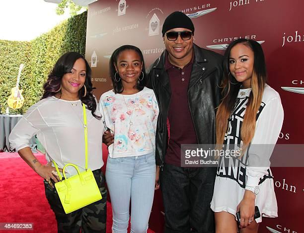 Simone Johnson daughter Nina Simone Smith rapper LL Cool J and daughter Samaria Leah Wisdom Smith attends the 11th Annual John Varvatos Stuart House...