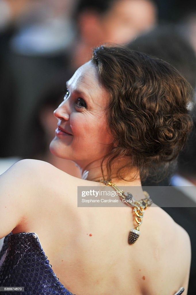 Simone Kirby attends the 'Mommy' premiere during the 67th Cannes Film Festival