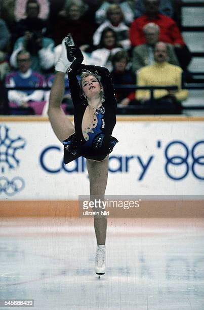 Simone Koch in Aktion sie wiredNeunte Februar 1988