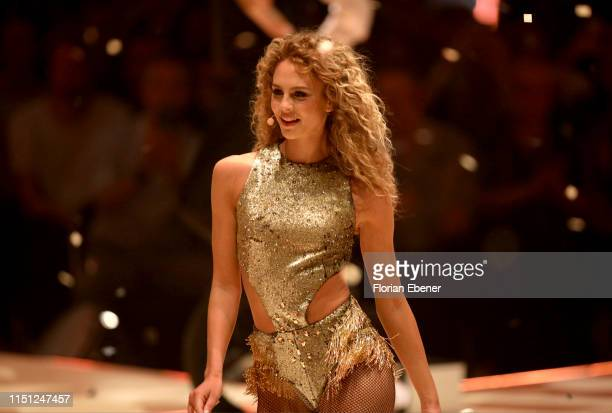 Simone Kowalski at the Germany's Next Top Model finals at ISS Dome on May 23 2019 in Duesseldorf Germany