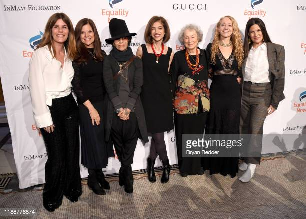 Simone Lahorgue Sue Smalley Linda Perry Yasmeen Hassan Margaret Atwood Lara Stein and Paula Ravets attend the annual Make Equality Reality Gala...