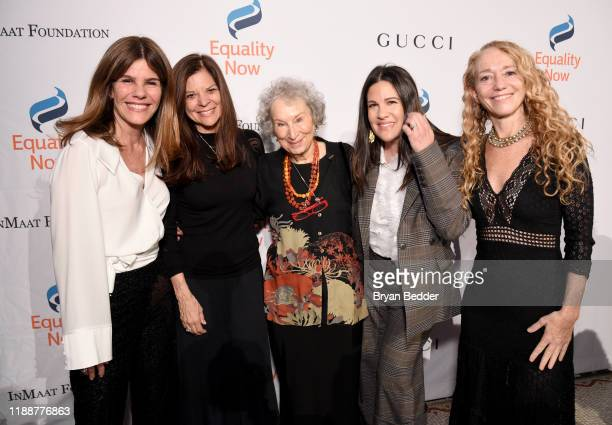 Simone Lahorgue Sue Smalley Margaret Atwood Paula Ravets and Lara Stein attend the annual Make Equality Reality Gala hosted by Equality Now on...