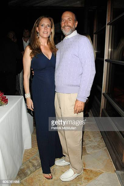 Simone Levinson and David Levinson attend GUCCI Cristina Chris Cuomo and Stephanie and David Wolkoff's Midsummer Night's Dinner at The Ross School on...