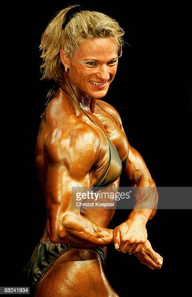 Simone Linay of Germany poses in the class of ladies heavyweight till 52 kilogramm during the World Games 2005 on July 15, 2005 in Duisburg, Germany.