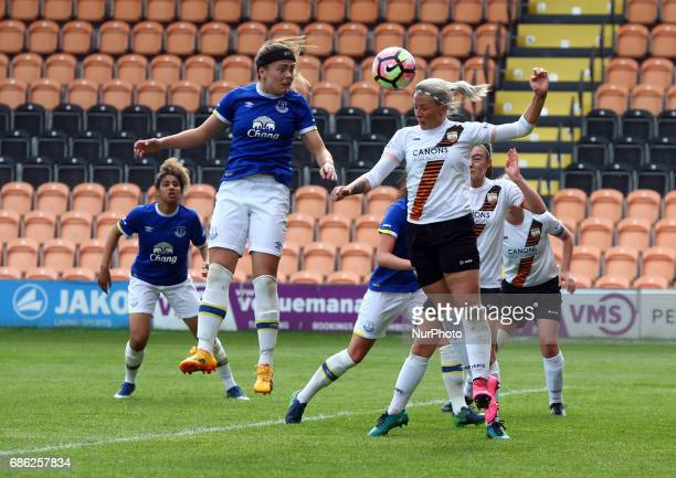 LR Simone Magill of Everton Ladies and Emma Beckett of London Bees during Women's Super League 2 Spring Series match between London Bees against...
