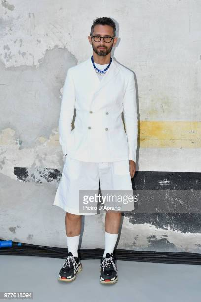 Micol Sabbadini attends the N21 show during Milan Men's Fashion Week Spring/Summer 2019 on June 18 2018 in Milan Italy