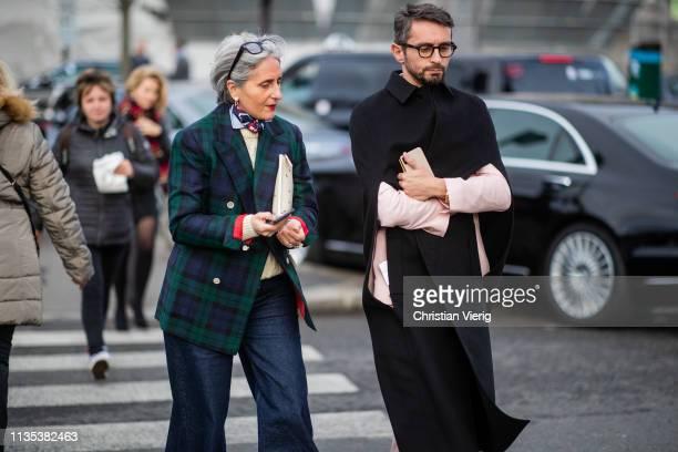 Simone Marchetti is seen outside Lacoste during Paris Fashion Week Womenswear Fall/Winter 2019/2020 on March 05 2019 in Paris France