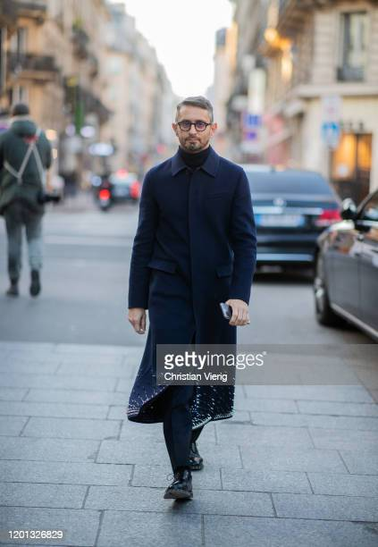 Simone Marchetti seen outside Viktor & Rolf during Paris Fashion Week - Haute Couture Spring/Summer 2020 on January 22, 2020 in Paris, France.