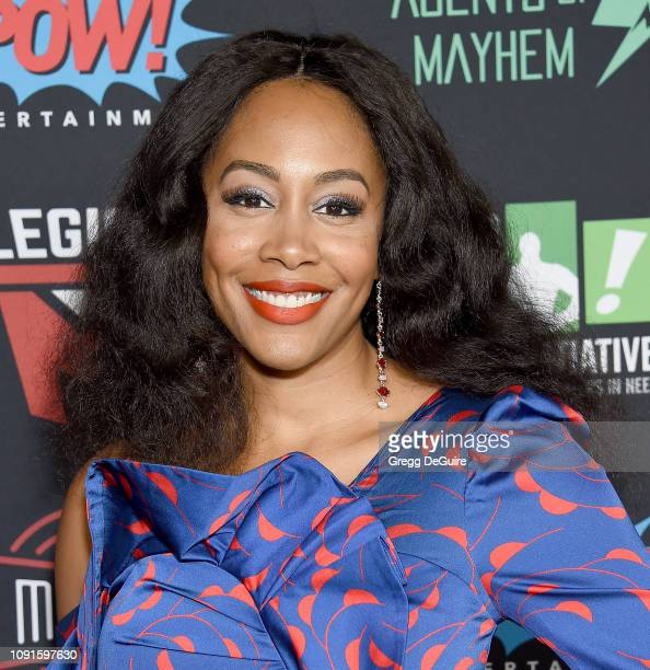 Simone Missick arrives at Excelsior A Celebration Of The Amazing Fantastic Incredible And Uncanny Life Of Stan Lee at TCL Chinese Theatre on January...