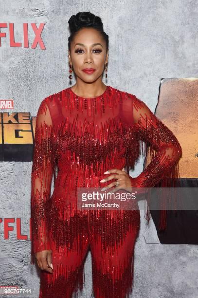 Simone Missick attends the 'Luke Cage' Season 2 premiere at The Edison Ballroom on June 21 2018 in New York City