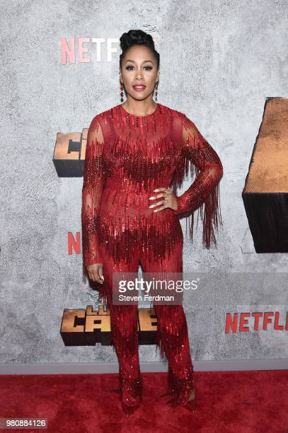 Simone Missick attends the 'Luke Cage' Season 2 premiere at The Edison Ballroom on June 21 2018 in New York City