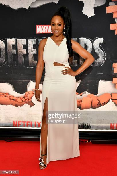 Simone Missick attends the Marvel's The Defenders New York Premiere at Tribeca Performing Arts Center on July 31 2017 in New York City