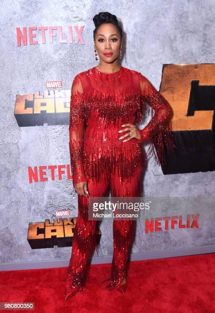 Simone Missick attends the Netflix Original Series Marvel's Luke Cage Season 2 New York City Premiere on June 21 2018 in New York City