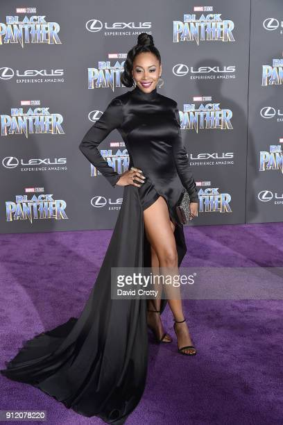 Simone Missick attends the Premiere Of Disney And Marvel's Black Panther Arrivals on January 29 2018 in Hollywood California