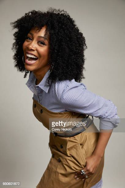Simone Missick from the film Jinn poses for a portrait in the Getty Images Portrait Studio Powered by Pizza Hut at the 2018 SXSW Film Festival on...