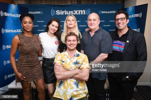 Simone Missick Jessica Henwick Alice Eve Finn Jones Jeph Loeb and Raven Metzner attend SiriusXM's Entertainment Weekly Radio Broadcasts Live From...