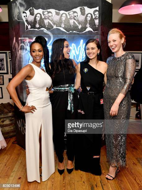 Simone Missick Rosario Dawson Jessica Henwick and Deborah Ann Woll attend the Marvel's The Defenders New York Premiere After Party at The Standard...