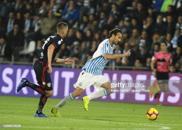 Simone Missiroli of SPAL in action during the Serie A match between SPAL and Cagliari at Stadio Paolo Mazza on November 11 2018 in Ferrara Italy